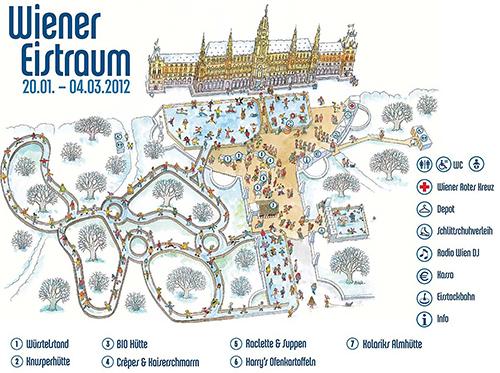 Übersichtsplan Wiener Eistraum 2012